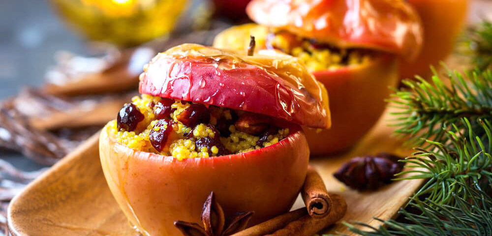 recipes sausage house baked apples with barley sausage pilaf recipe