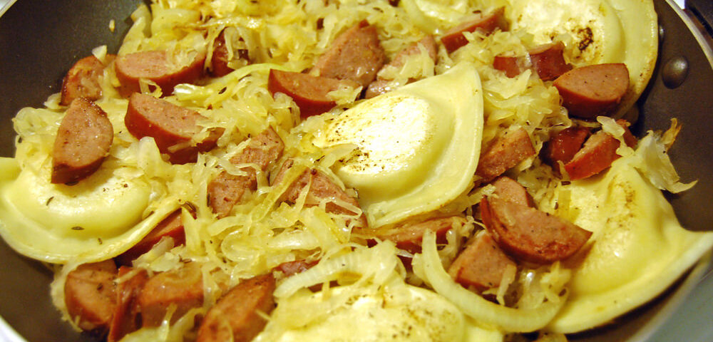 recipes sausage house biala kielbasa with pierogi and sauerkraut recipe