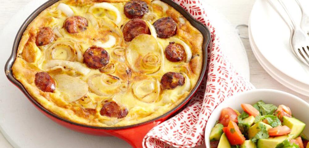 recipes sausage house potato and chorrizo fritta